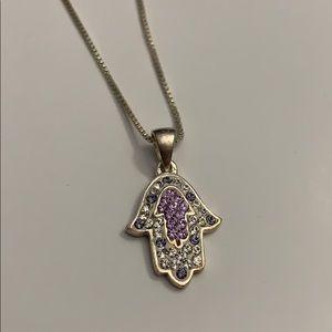 Jewelry - Silver Hamsa on Sterling Silver Box chain.